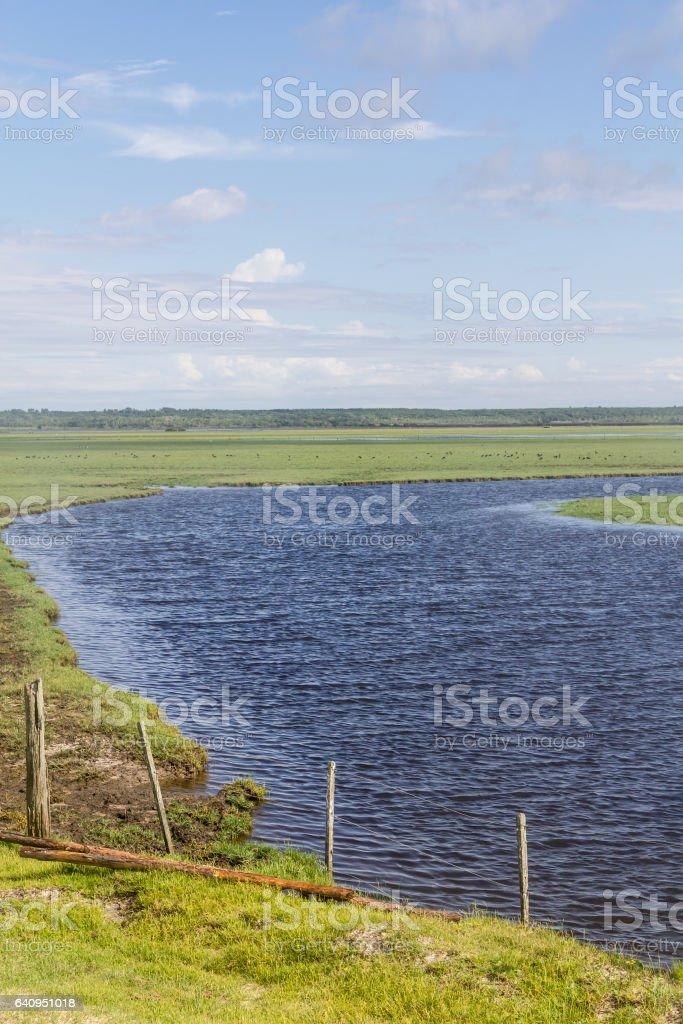 Lagoa do Peixe lake stock photo