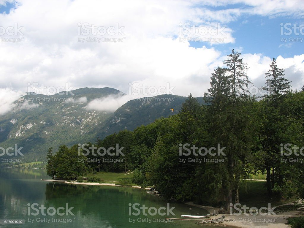 Lake & forest stock photo