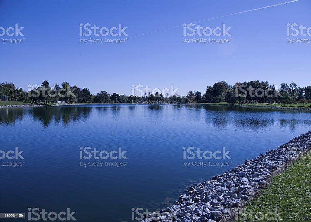 Lake Front stock photo