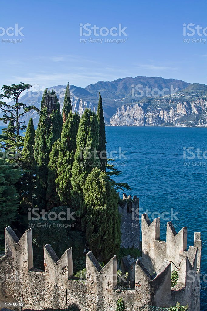 lake Garda and Malcesine stock photo
