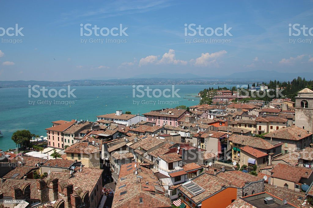 Lake Garda from Sirmione stock photo