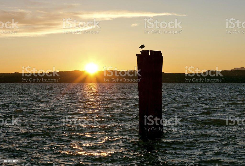 Lake Garda Golden Sunset royalty-free stock photo