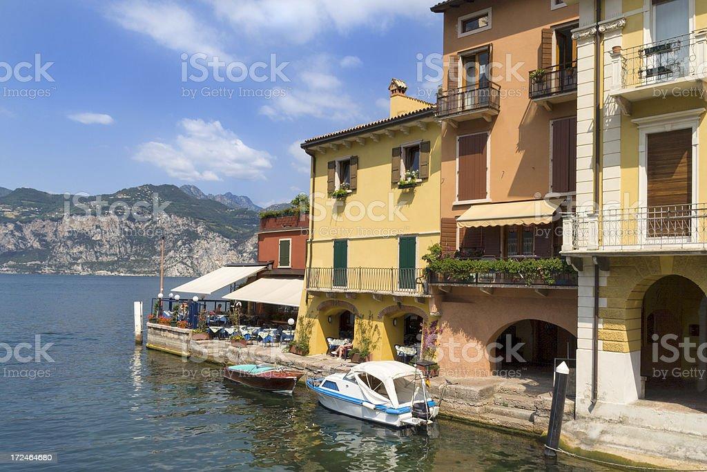 Lake Garda Harbour royalty-free stock photo