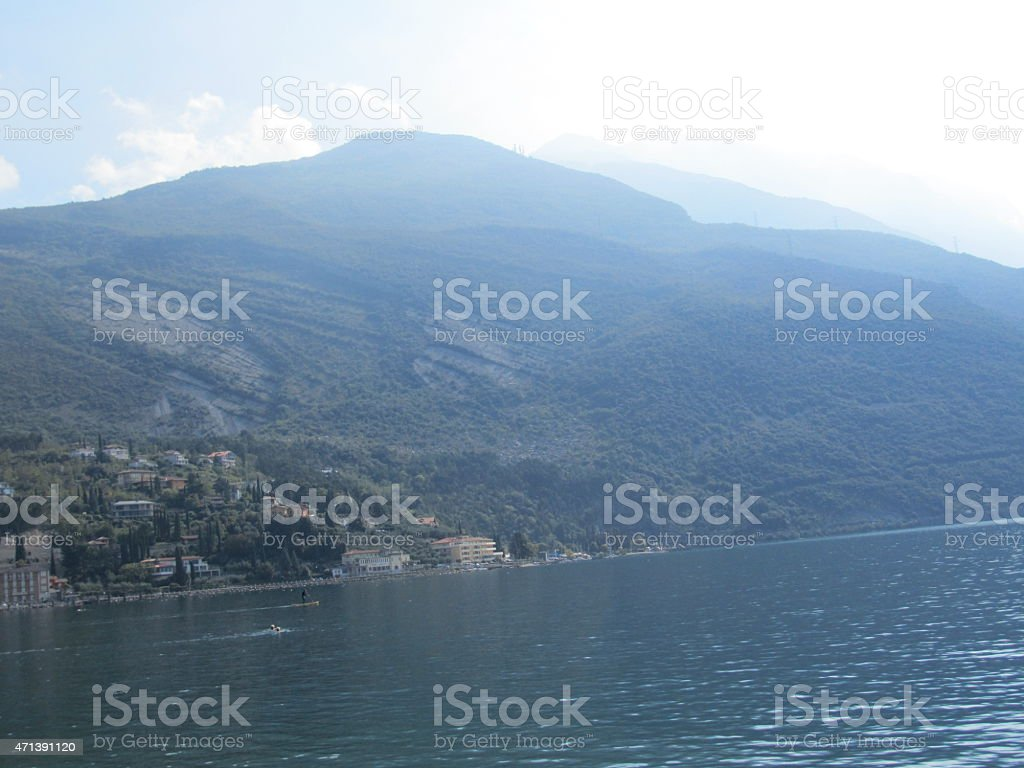 Lake Garda holiday in sunny Italy stock photo