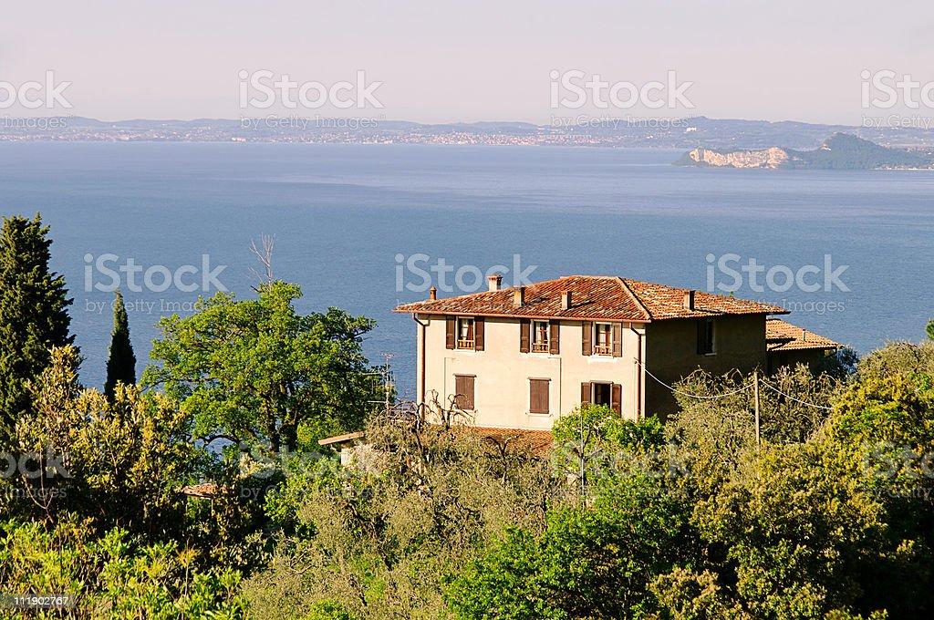Lake Garda house royalty-free stock photo