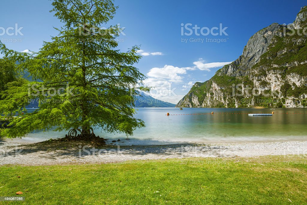lake garda italy stock photo