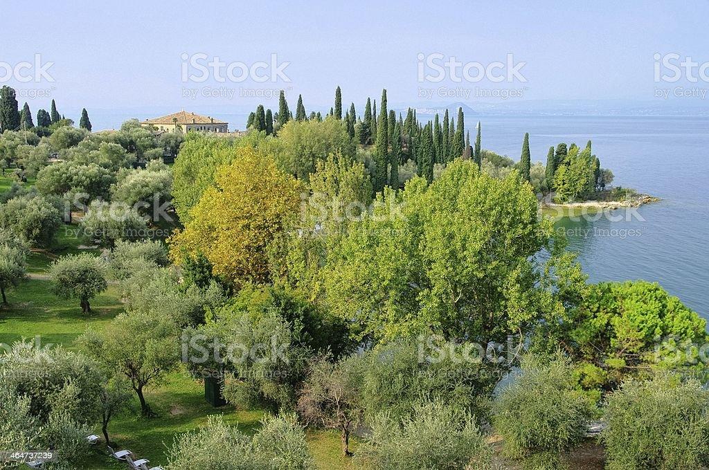Lake Garda Punta San Vigilio stock photo