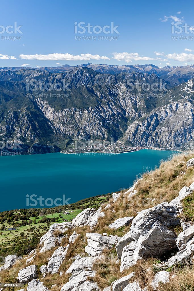 Lake Garda - Riva Del Garda from Monte Baldo stock photo