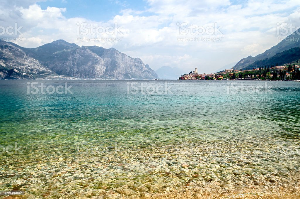Lake Garda, Town of Malcesine (Veneto, Italy) stock photo