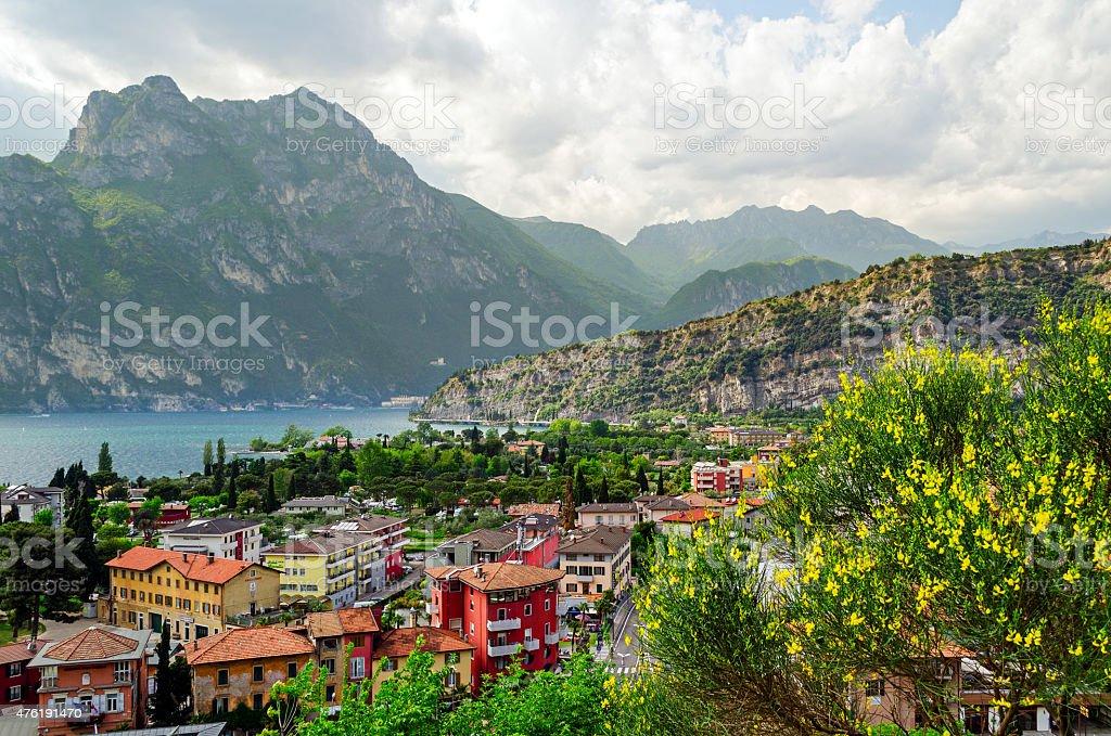 Lake Garda, Town of Torbole (Trentino, Italy) stock photo