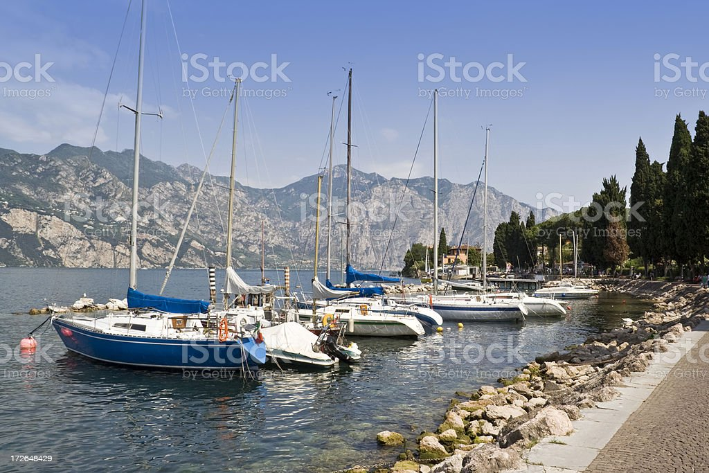 Lake Garda Yachts royalty-free stock photo