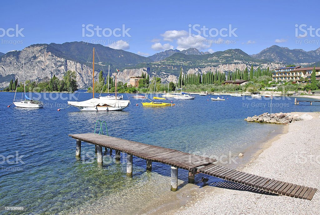 Lake Garda,Italy stock photo