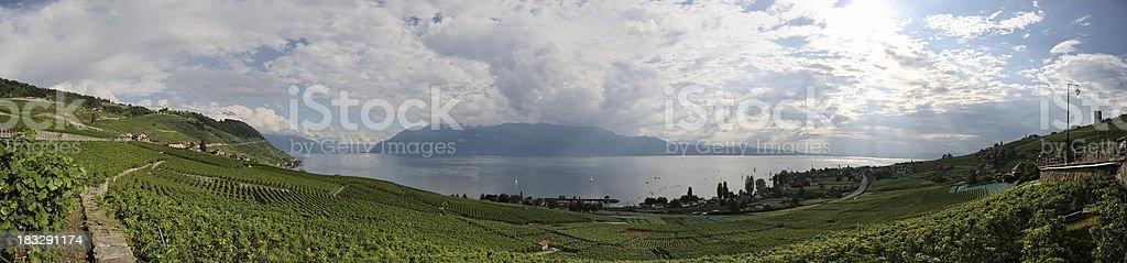 Lake Geneva Panorama stock photo