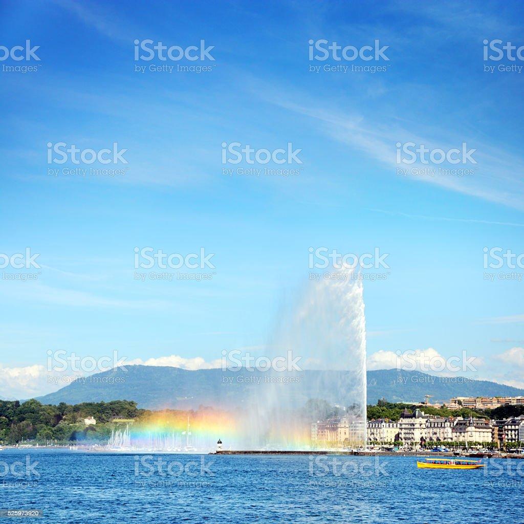 Lake Geneva, Switzerland stock photo