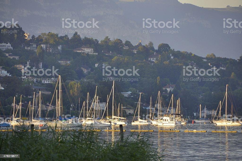 Lake Geneva,Switzerland stock photo