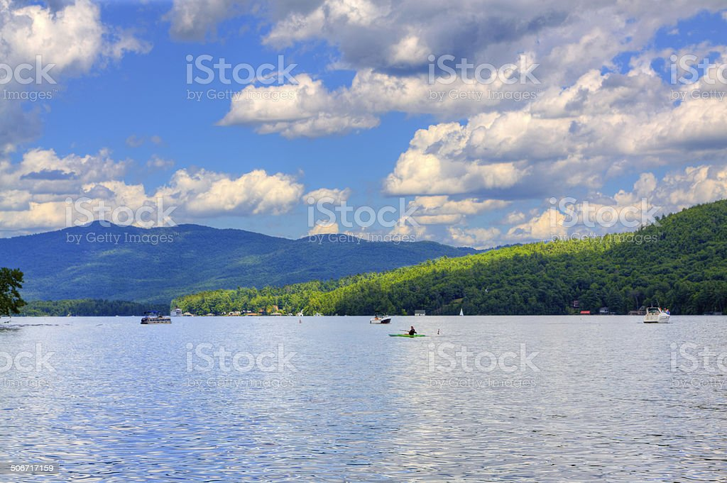Lake George, NY. stock photo