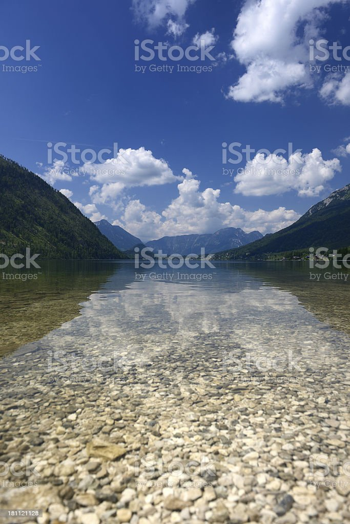 Lake Grundlsee, Ausseerland, Salzkammergut, Austria royalty-free stock photo