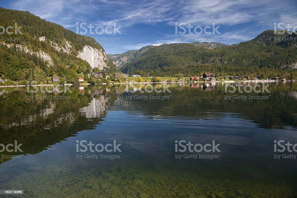 Lake Grundlsee - Austria Alps Nature Reserve Panorama stock photo