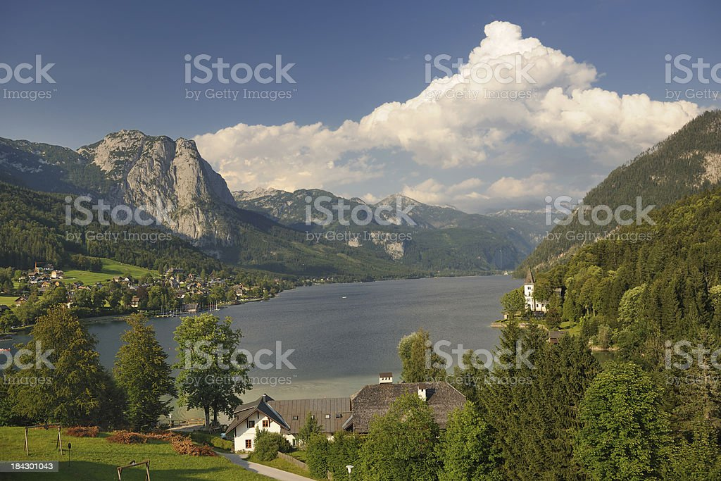 Lake Grundlsee - Austria Alps Nature Reserve Panorama (XXXL) stock photo