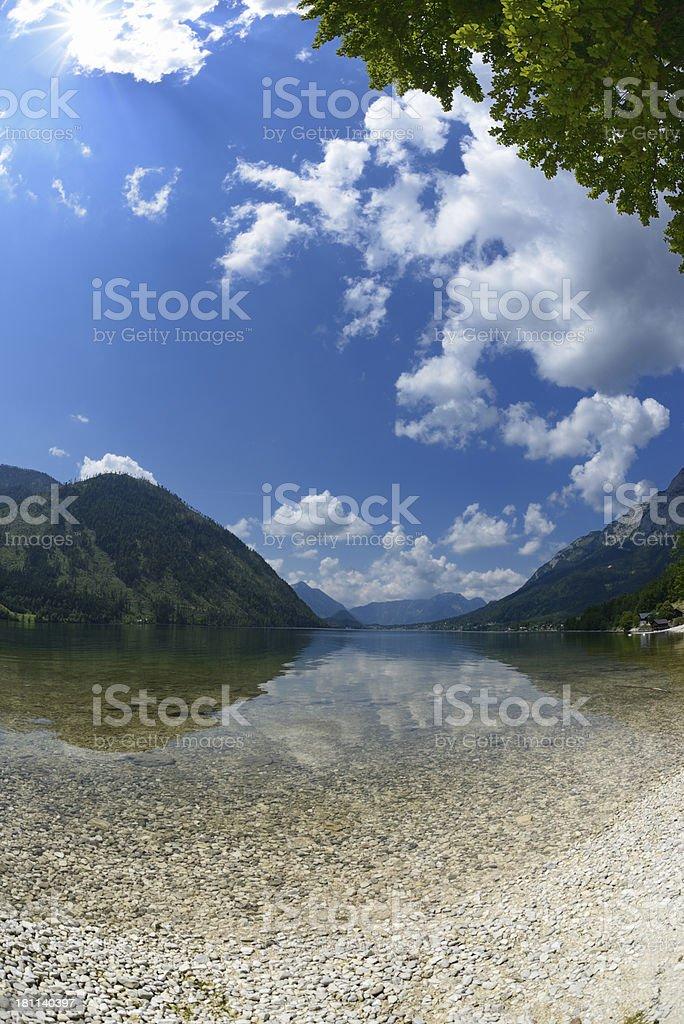 Lake Grundlsee - Austria Alps Nature Reserve royalty-free stock photo