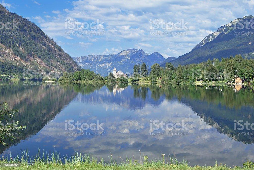Lake Grundlsee,Alps,Styria,Austria stock photo
