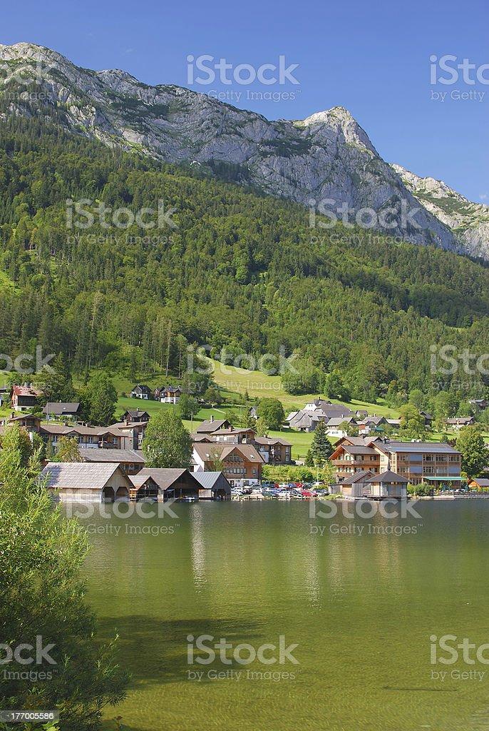 Lake Grundlsee,Styria,Austria stock photo