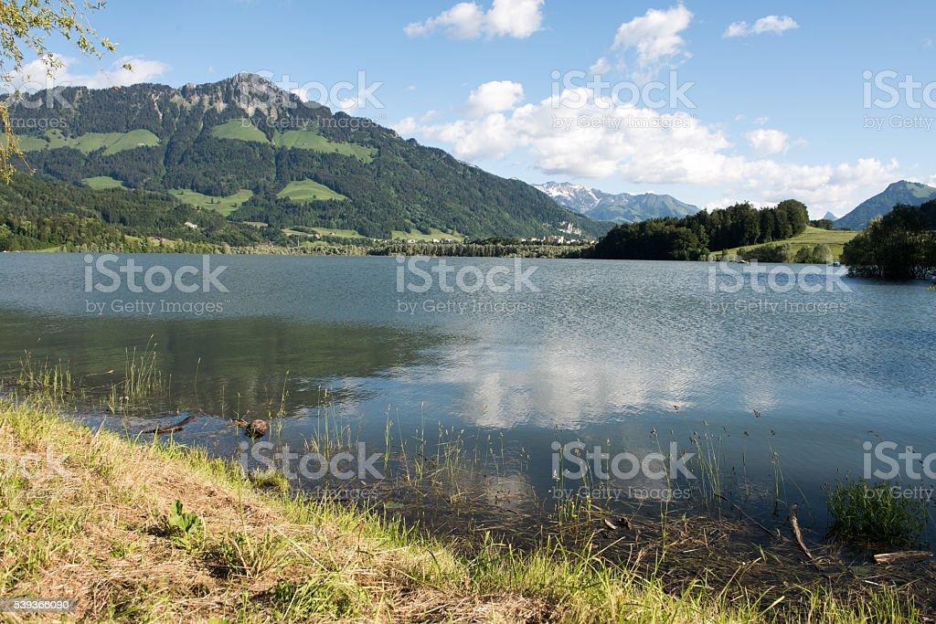 Lake Gruyere stock photo