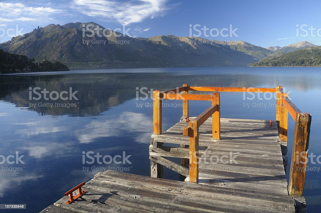 Lake Gutierrez, Bariloche, Patagonia, Argentina royalty-free stock photo