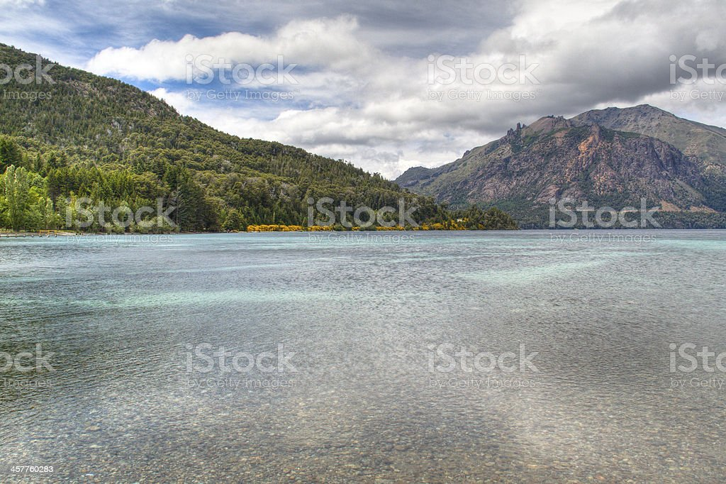 Lake Gutierrez near Bariloche, Argentina royalty-free stock photo