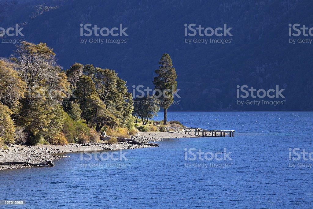 Lake Guttieres, Bariloche, Argentina stock photo
