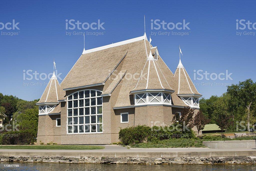 Lake Harriet Bandshell Pavilion in Minneapolis Minnesota Hz stock photo