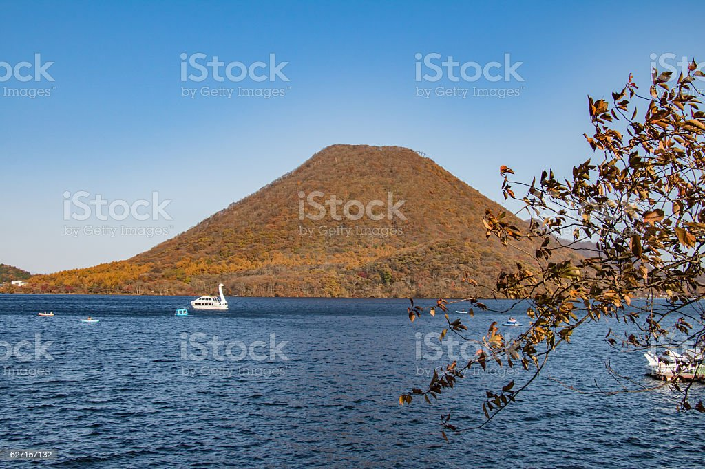 Lake Haruna royalty-free stock photo