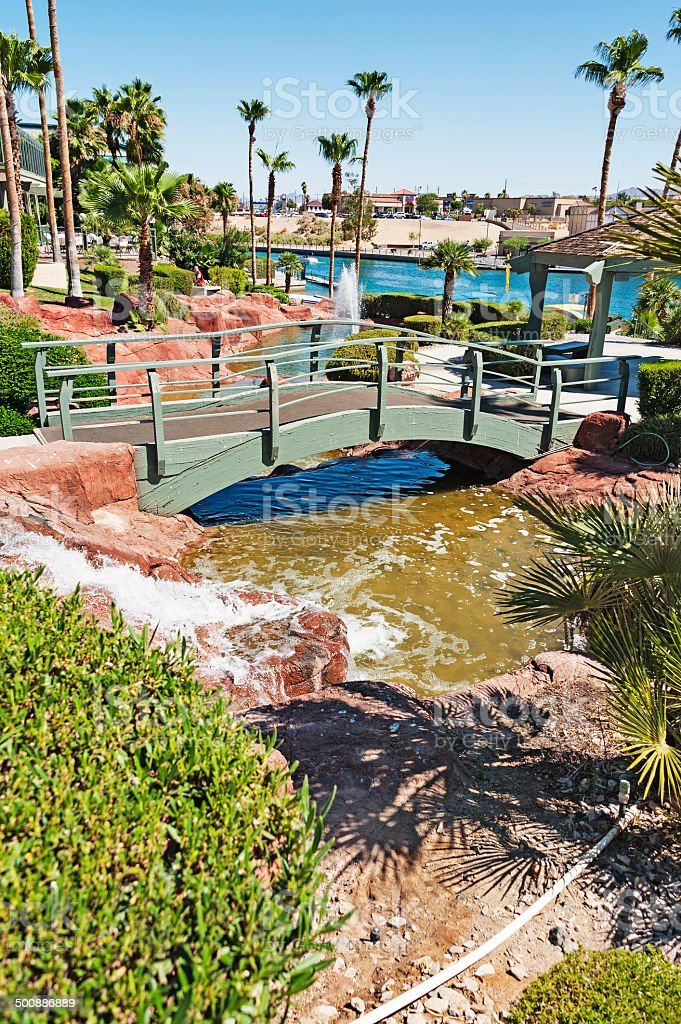 Lake Havasu City Walking bridge royalty-free stock photo