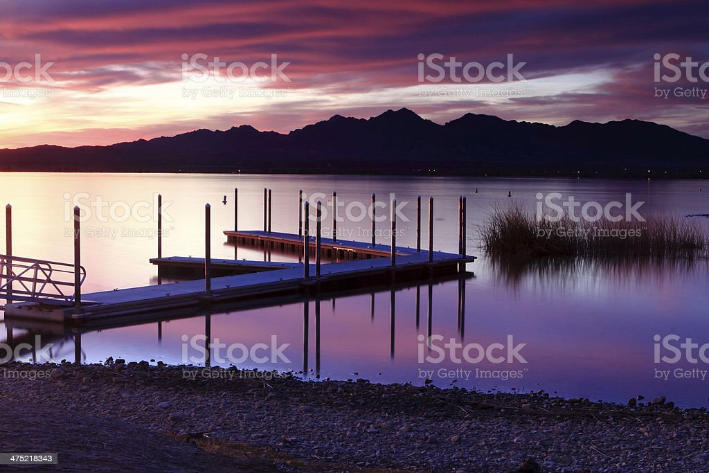 Lake Havasu Sunset stock photo