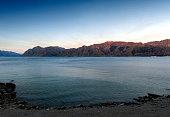 Lake Hawea located in the Otago Region of New Zealand