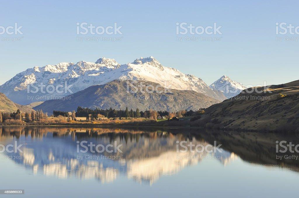 Lake Hayes at New Zealand stock photo