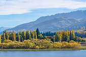 Lake Hayes located in the Wakatipu Basin in Central Otago.