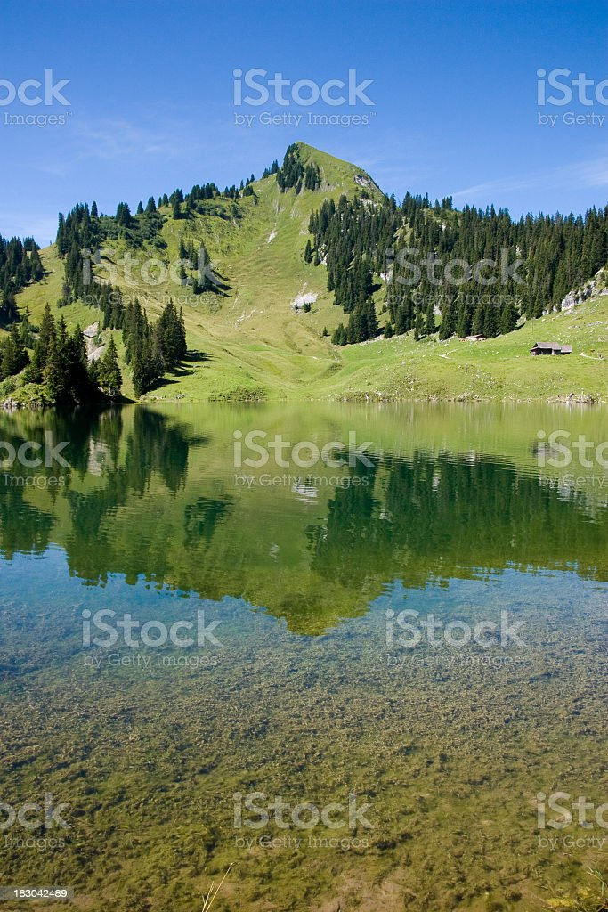 Lake Hinterstockensee royalty-free stock photo