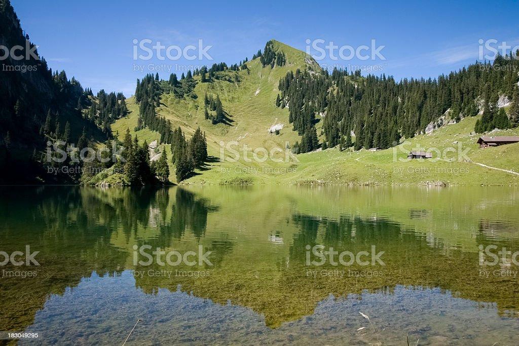 Lake Hinterstockensee royalty-free stock photo