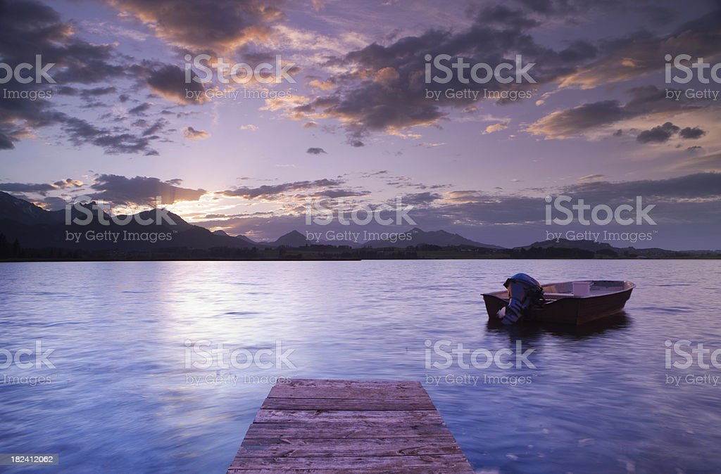 lake hopfensee - bavaria germany royalty-free stock photo