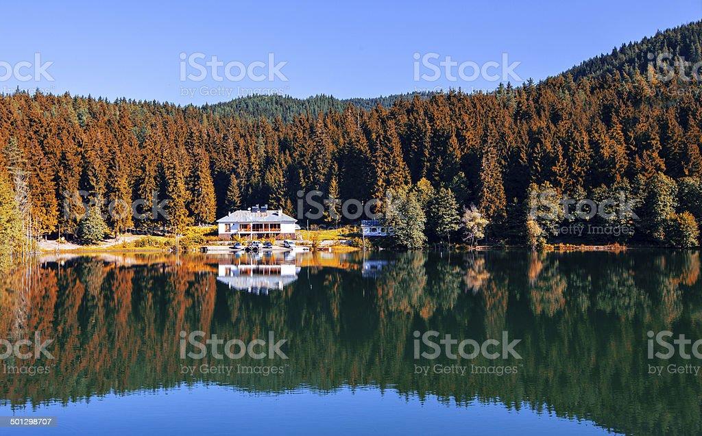 Lake House stock photo