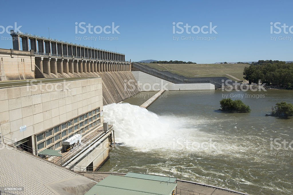 Lake Hume dam royalty-free stock photo