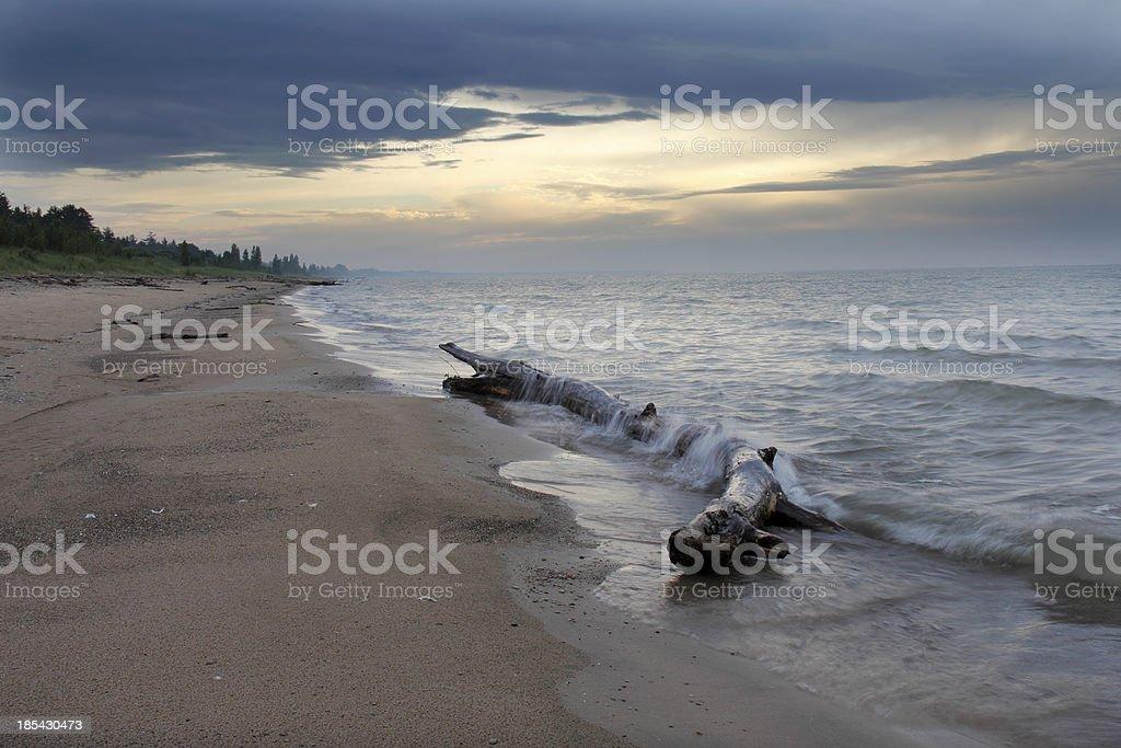 Lake Huron Beach stock photo