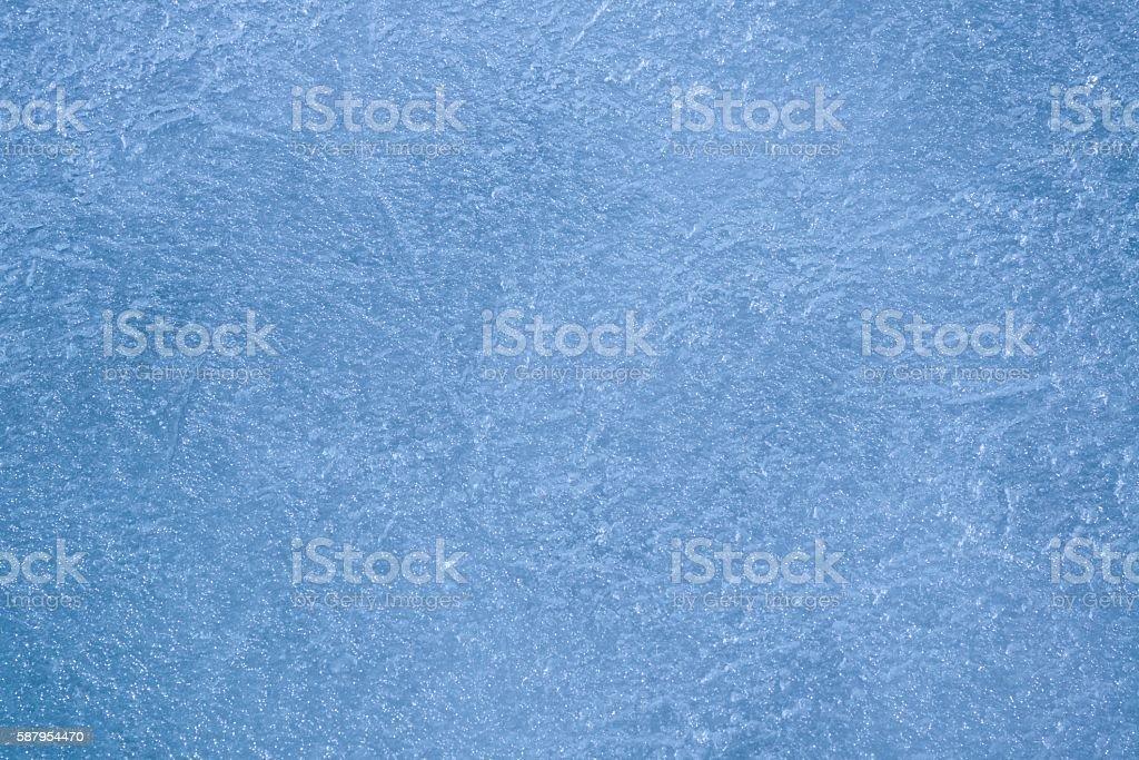 Lake Ice on a Frozen Minnesota Lake stock photo