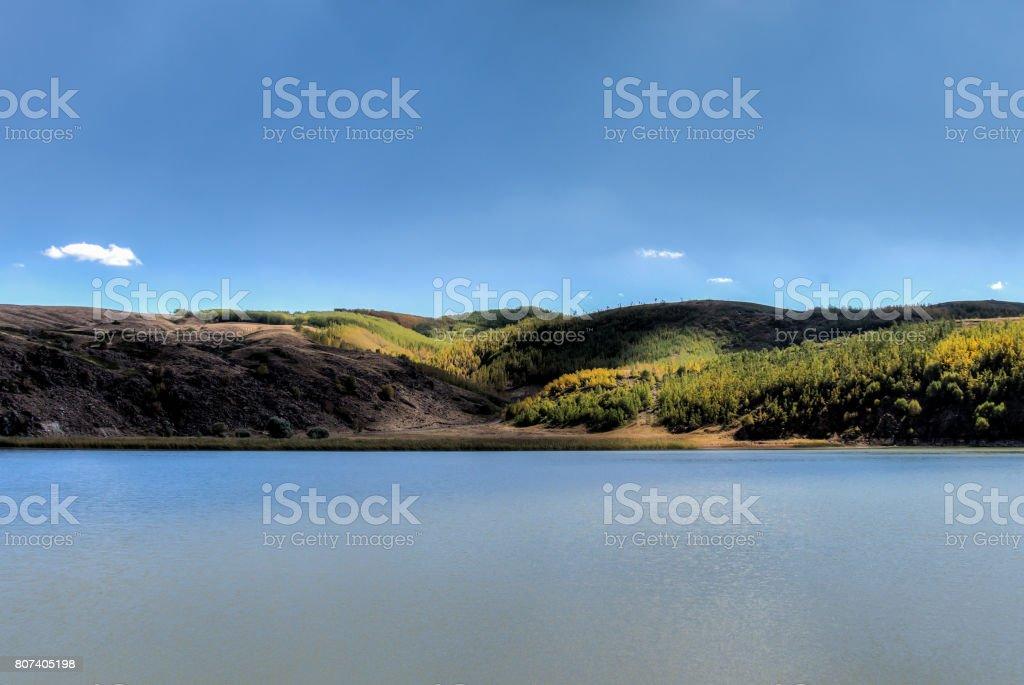 Lake Ilica of Nemrut Crater stock photo