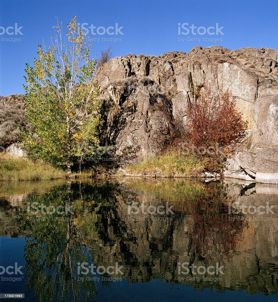'Lake in a Dry Land, Grand Coulee, Washington' stock photo