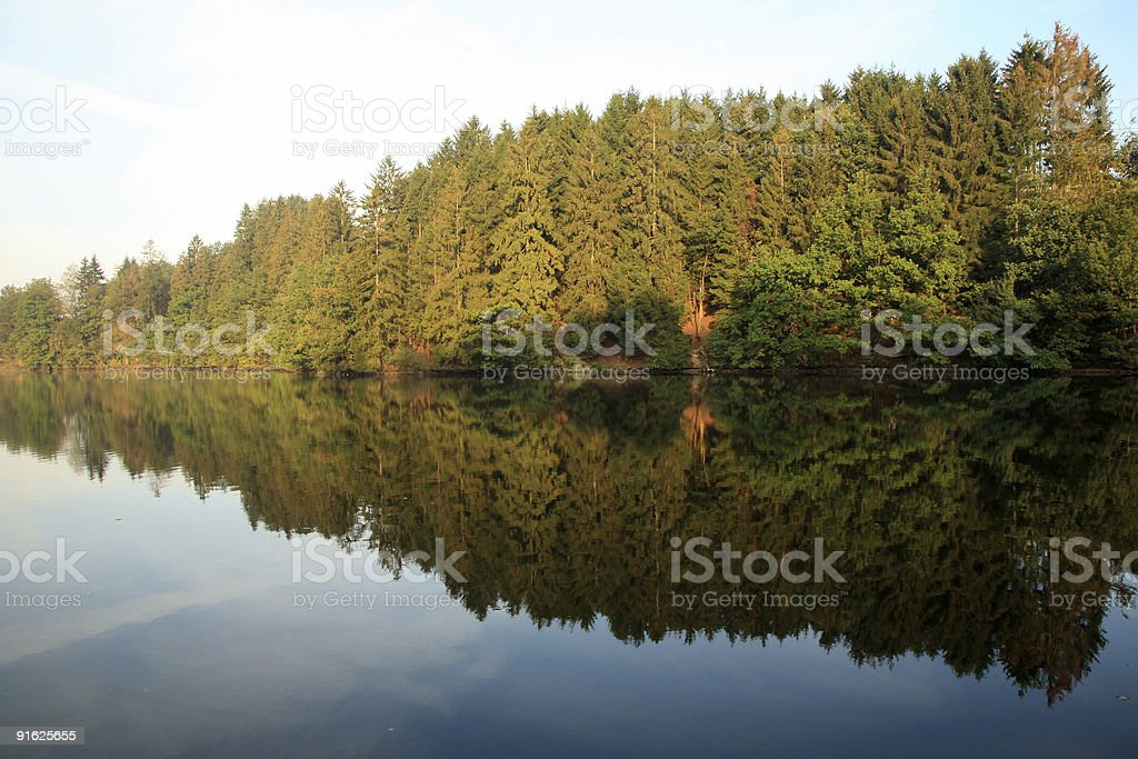 Lake in Ardennes - Belgium royalty-free stock photo