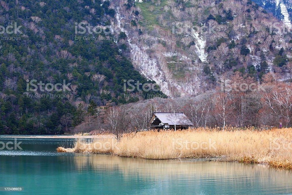 lake in autumn royalty-free stock photo