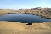 Lake in Badain Jaran desert, Inner Mongolia, China