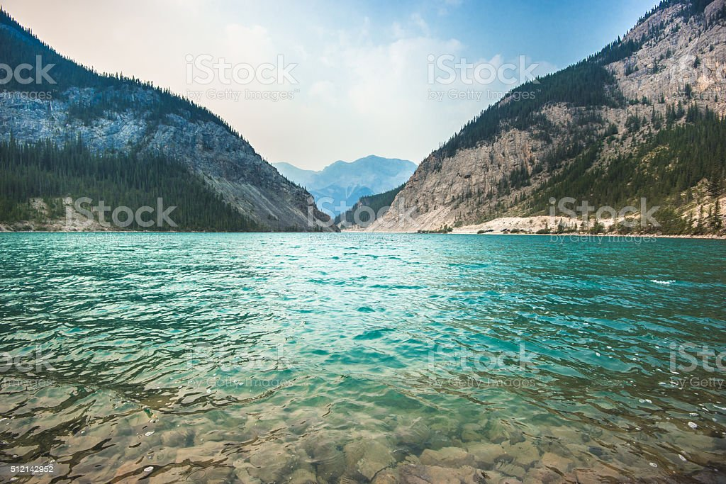 Lake in Banff National Park - Canada stock photo